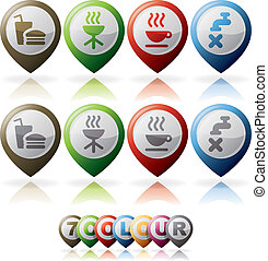 Misc Internet Icons - Miscellaneous internet web icons set,...