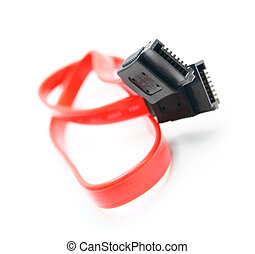 Cable SATA. On a white background .