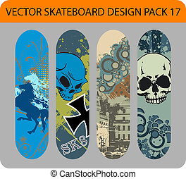 Skateboard design pack 17