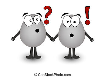 Amusing Easter eggs - Two gray eggs a question and...