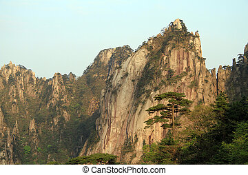 Huangshan mountain - View on the top of Huangshan mountain,...