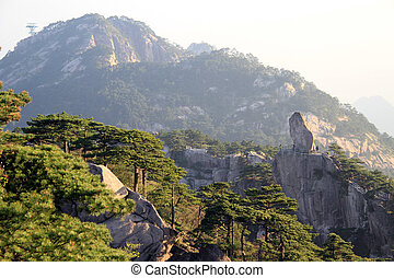 Rock and Huangshan mountain in China
