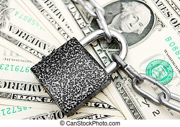 The lock, chain and money