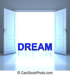 Dream word conceptual in the future