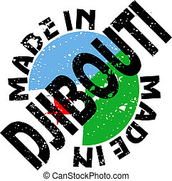 Made in Djibouti - vector label Made in Djibouti
