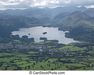 Keswick, Derwentwater and Catbells - View of Keswick,...