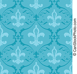 Fleur de lis wallpaper - Seamless pattern made of floral...