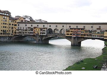 Ponte vecchio - entire view of Ponte vecchio in florence