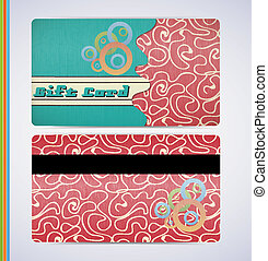 Retro Gift Card - retro grunge gift card for your business