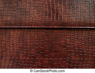 Leather with crocodile dressed texture. Abstract background...