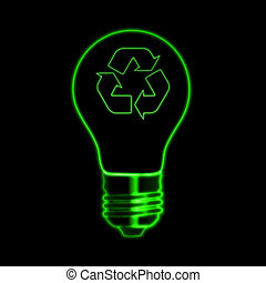 bulb with recycle sign