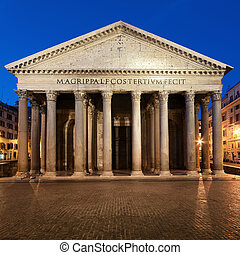 Pantheon  at night.