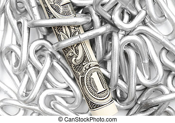Chain and money - Chain and a money