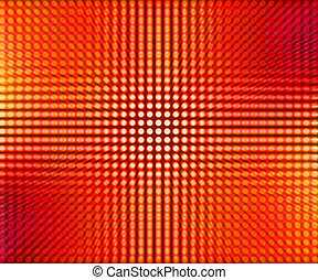Red LED Dots Abstract Background