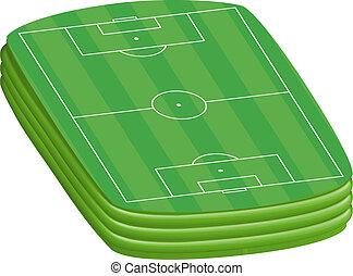 3D Green football field background