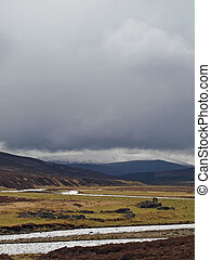 Dee river , white bridge area, Cairngorms , Scotland - Heavy...