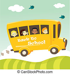 School bus,  illustration