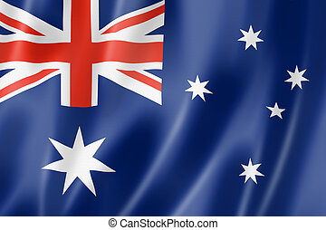 Australian flag - Australia flag, three dimensional render,...