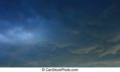 Multicolor storm clouds