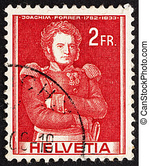 SWITZERLAND - CIRCA 1941: a stamp printed in the Switzerland...