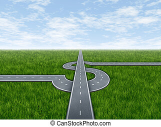 Business success highway concept with highways in the shape...