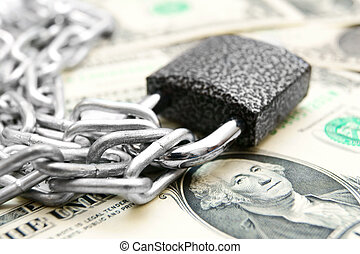 The lock, chain and money - The lock, chain and money
