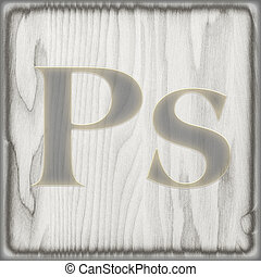 Photoshop icon - Abstract background for the design icon of...