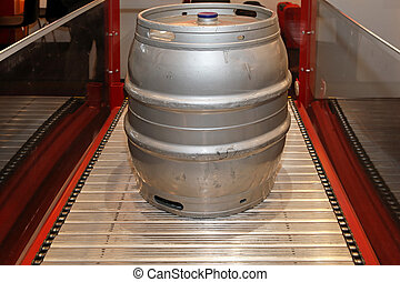 Keg - Aluminum keg for beer at brewery production line