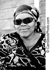 Shack fashion - Grandma posing with her sunglasses to th...