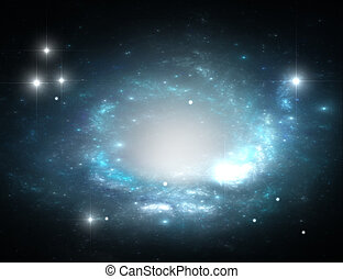 Blue space Galaxy and Stars