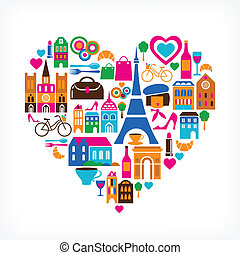Pars love - vector illustration with set of icons - Pars...