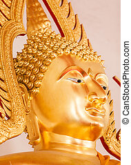 Head of the Buddha in the temple