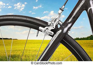détail, route, Vélo