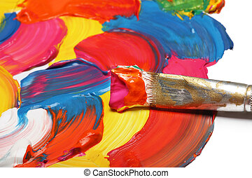 brush and abstract acrylic painted background