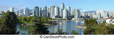 Vancouver BC skyline at False creek - Vancouver BC skyline...