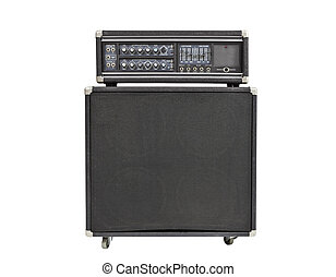 Rock and Roll Bass Amplifier Isolated - Vintage rock and...
