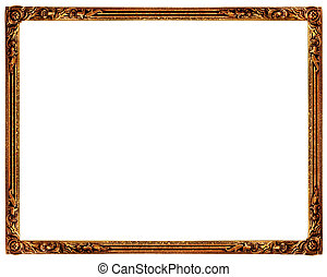 Picture frame - Old picture frame on plain background