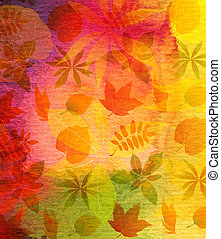 Abstract watercolor painted background with leaf