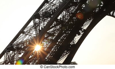 Eiffel Tower Sunset. Wide.