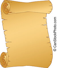 Vintage parchment image 1 - vector illustration.