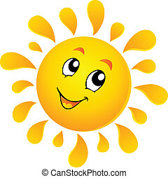 Sun theme image 3 - vector illustration