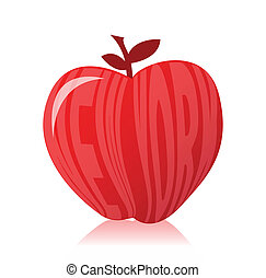 New york apple illustration design