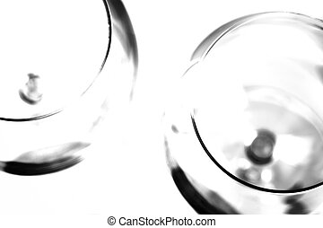 wine glasses - abstract wine glasses, high contrast black...