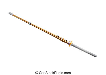 shinai - kendo weapon: shinai isolated on white background