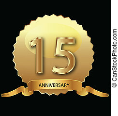 15th anniversary in gold seal