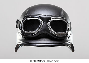 motorcycle helmet with goggles
