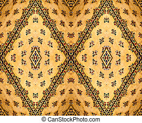 thai pattern - traditional art thai style on the wall,...