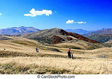 mountainbiking - Landscape from the Mavrovo Region in...