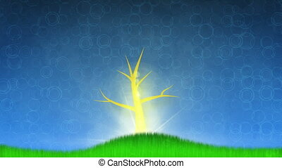 growing tree animation. The last 10 seconds are loopable. HD...