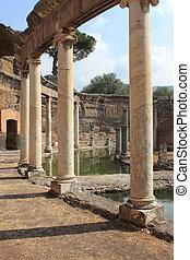 Villa Adriana near Rome - Ruins of Villa Adriana near Rome,...